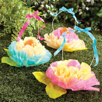 Great easter baskets to make with your kids kristins great times coffee filter easter flower baskets negle Gallery